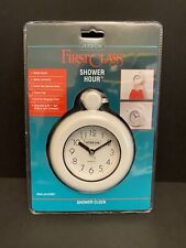 NIP Jerdon Water Resistant Shower Clock & Towel Ring White JG1CP/941
