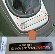 Genuine JDM Mitsubishi Lancer Evolution MR Rare Center Console Emblem