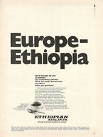 1971 Original Advertising' Ethiopian Airlines Europe Ethiopia Coffee