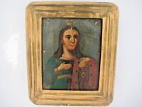 19th century Antique Russian Orthodox Icon Saint Catherine Russia