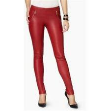 NWOT JUICY COUTURE RED LUXE LEATHER PANTS sz 2 (as is)