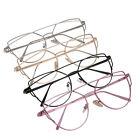 Men Women Unisex Clear Lens Glasses Eyewear Retro Metal Frame