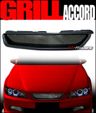 FOR 1998-2002 HONDA ACCORD COUPE 2DR BLACK T-R ALUMINUM MESH FRONT BUMPER GRILLE