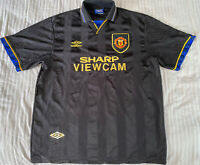 Original - Manchester United FC - Away Shirt - 1993-1995 - Umbro - Size: XL