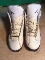 NIKE Air Jordan Retro 13 White Black Team Red Chicago Shoes 414574-122 Size 6Y