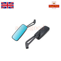 For Honda Yamaha 8mm 10mm Thread Aluminum Motorcycle Rectangle Rearview Mirrors
