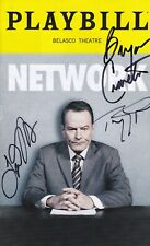"""""""Network""""  - Signed Playbill -  Signed by Bryan Cranston"""