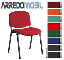 Stock 20 sedia tessuto per sala attesa conferenza riunione formazione scuola