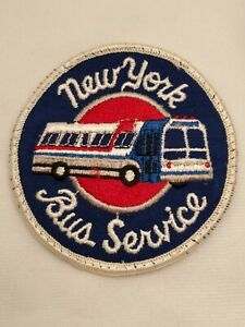 Vintage New York Bus Service Embroidered Uniform Patch