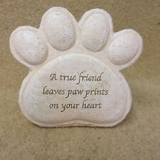 Dog Paw Memorial Resin Plaque