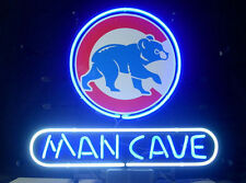 """New Chicago Cubs MLB world series champion MAN CAVE Neon Light Sign 18""""x14"""""""