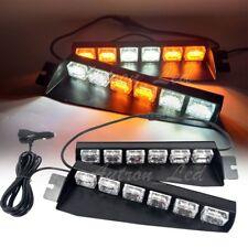 """29"""" Inch 36 LED Warning Visor Dash Deck Split Strobe Signal Lightbar Amber White"""