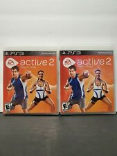 (2) EA Sports Active 2  (Sony Playstation 3, 2010) PS3 Game.