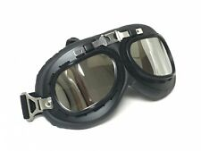 New Helmet Steampunk Chrome Motorcycle Aviator Goggles Vintage Retro Pilot