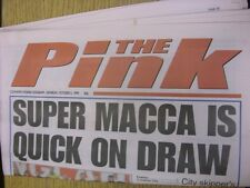 02/10/1999 Coventry Evening Telegraph The Pink: Main Headline Reads: Super Macca