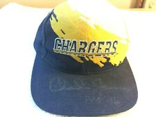 San Diego Chargers -     Charlie Joiner       Hall of Fame       Autographed Hat