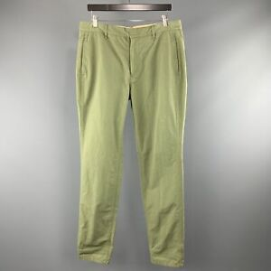 RAG & BONE Size 34 Olive Cotton Zip Fly Casual Pants