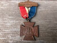 Antique 1883 WRC Womens Relief Corps Pin Medal w Ribbon