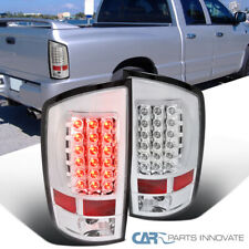 For 02-06 Dodge Ram 1500 2500 3500 Pickup Clear LED Tail Lights Rear Brake Lamps