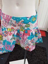 "Ladies BNWOT ""Zoe"" White Floral Pattern Beach 100% Cotton Skirt (Size 8)"