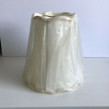 """Vintage Lamp shade Scalloped Pleated Ivory 10""""x10""""x6"""""""
