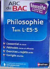 ABC DU BAC : philosophie - terminale L ES S - NATHAN 2007