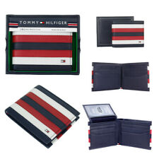 Tommy Hilfiger Men's RFID Protection Leather Wallet Passcase & Valet Billfold