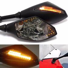 Motorcycle Sport Bike LED Turn Signal Side Mirrors Universal For SUZUKI GSX-R750