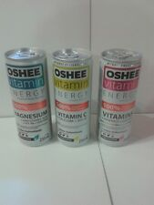 set of 3 EMPTY Oshee Vitamins Energy Drink cans 250 ml BOTTOM (Poland)