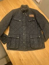 Mens Barbour Steve McQueen International Jeffries Quilted Jacket. Large. Blue.