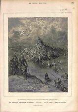 L'Arioste Roland Furieux Illustré par Gustave Doré GRAVURE ANTIQUE PRINT 1878