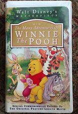 WINNIE THE POOH- VHS (Disney) with Sticker/Proof Of Purchase/Inserts OOP