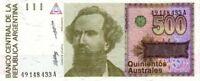 Argentine - Argentina billet neuf de 500 australes pick 328a UNC