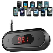 Universal 3.5mm audio jack Wireless In-car FM Transmitter Radio Car Kit For HTC