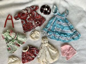 vintage handmade doll clothes, Possibly For Shirley Temple Doll 1950s 1960s