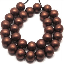 Perles en Bois Coloré 10mm Marron doré, Lot de 40 pcs