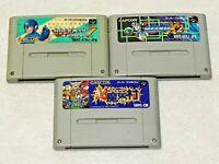 Rockman Megaman Cho Makaimura Lot 3 Nintendo SFC Super Famicom Japan SNES NTSC-J