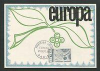 FRANCE MK 1965 EUROPA CEPT PARIS MAXIMUMKARTE CARTE MAXIMUM CARD MC CM d5288