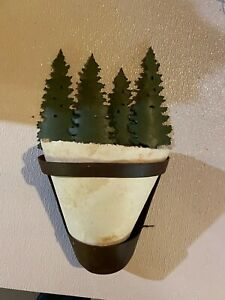Tree  Silhouette Wall Sconce Lodge Rustic Cabin