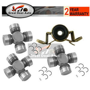 Universal Joint + Centre Bearing Fits Toyota HILUX SURF 60 130 Series 2WD 4WD