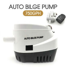 12V Boat Automatic Bilge Water Pump 750GPH Marine Submersible Float Switch AU
