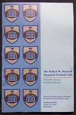 1976 - 40th Annual Maxwell Football Award Program - Tony Dorsett- Ken Stabler