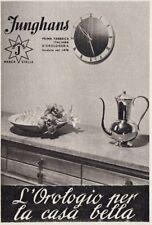 Z3748 JUNGHANS l'orologio per la casa bella  - Pubblicità d'epoca - 1940 old ad