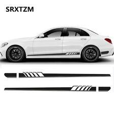 Black Side Stripes Decals Sticker for Mercedes Benz AMG W204 C180 C200 C300 C