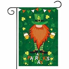 St-Patricks Day Garden Flag - Vertical Double Sided Polyester Green Yard Flags,