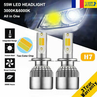 110W 26000LM H7 Voiture LED Phare Feux Lampe 3000K&6000K DRL Remplace Xenon Kit