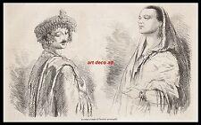 GRAVURE LA REINE D' OUDE ET L'HERITIER RUSSIE RUSSIA BOURIATIE   1856 - 1H