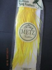 metz saddle fluorecent yellow grade 2  flytying hair feathers