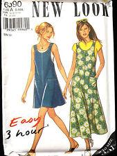 6590 NEW LOOK Misses Easy Jumper Dress Pockets Pattern UC S-XXL 10-28