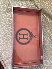 """H� Jewelry Tray, Done In Hermes Colors, 12�x 6 1/2�."